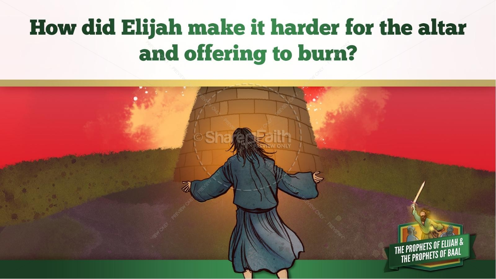 Elijah The Prophet 1 Kings 18 Kids Bible Stories