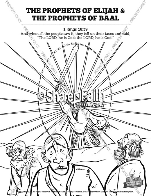 elijah the prophet 1 kings 18 sunday school coloring pages