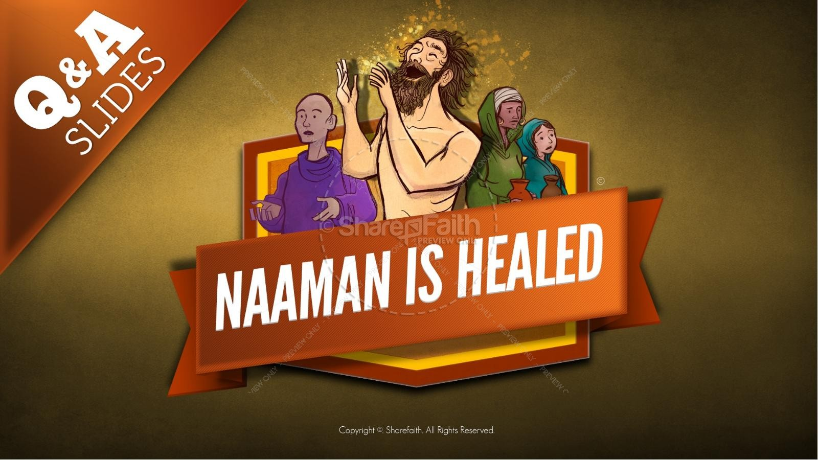 Naaman The Leper 2 Kings 5 Kids Bible Stories | slide 10