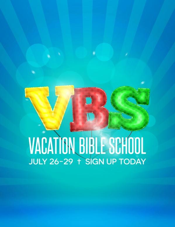 vbs registration flyer template