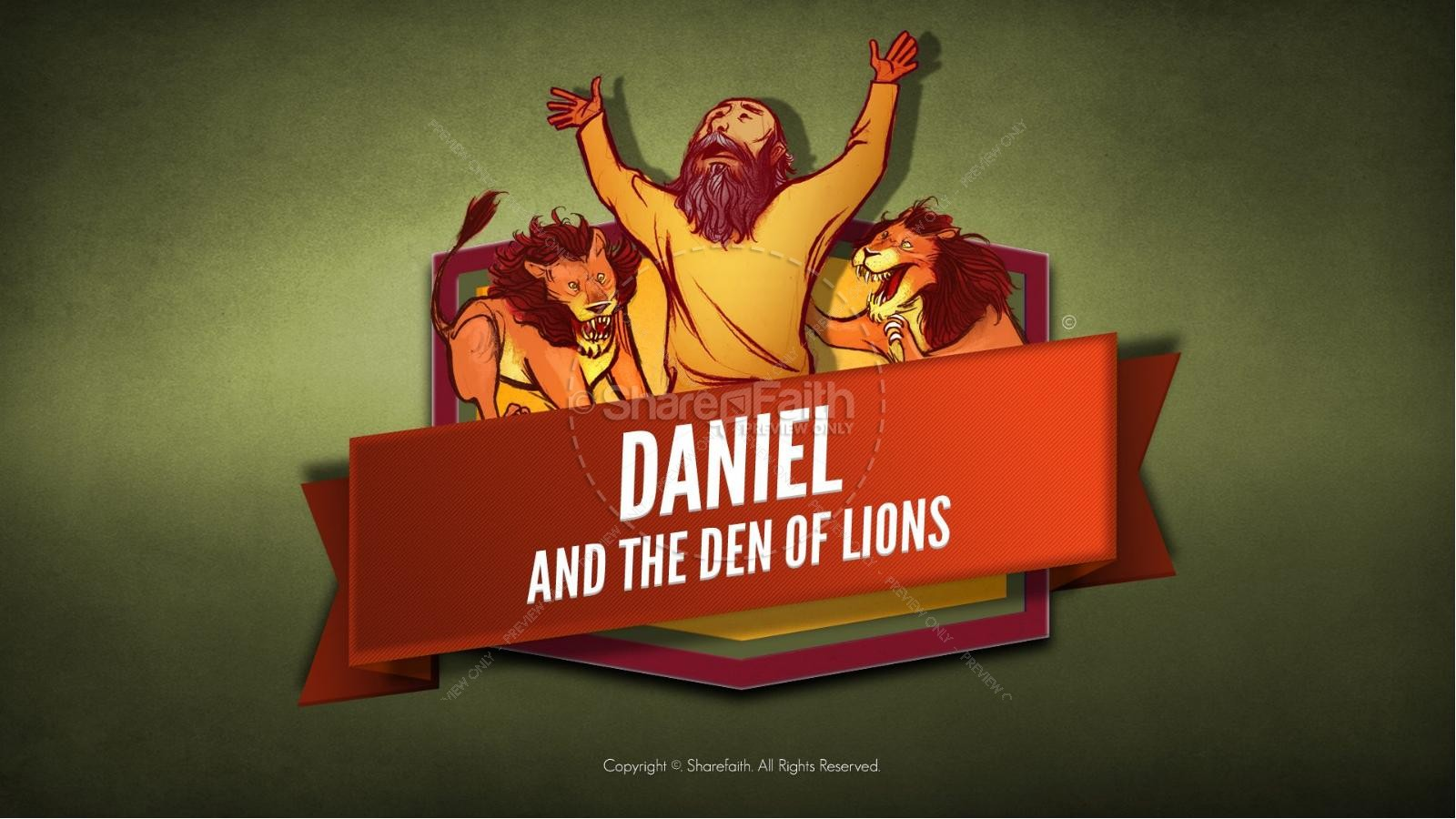 Story Of Daniel And Lions For Kids