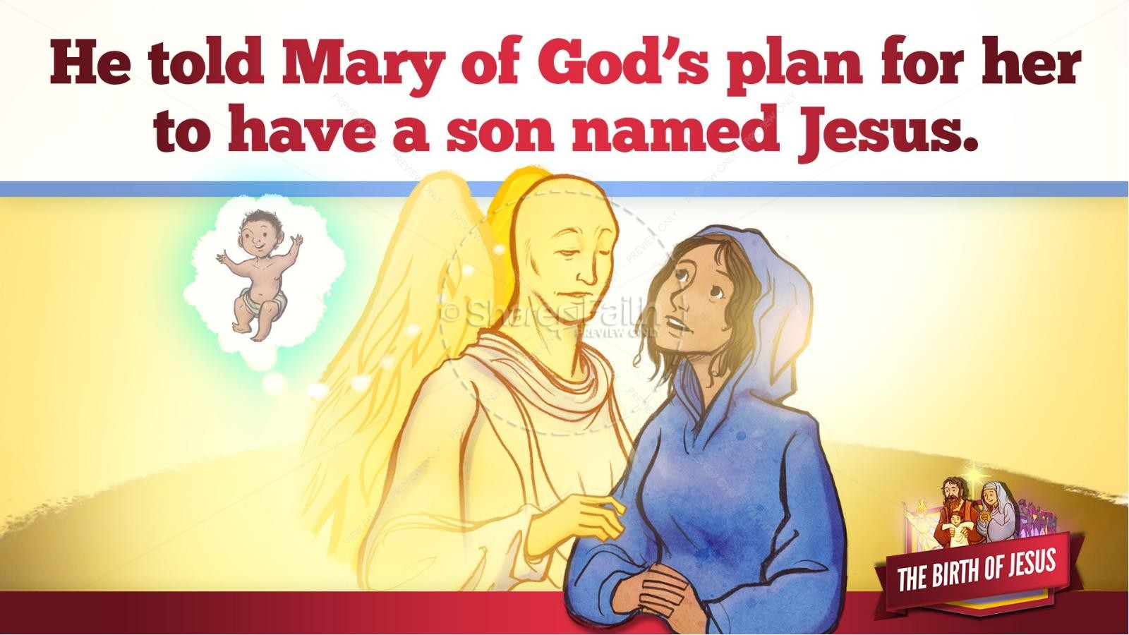 The Birth of Jesus Kids Bible Story