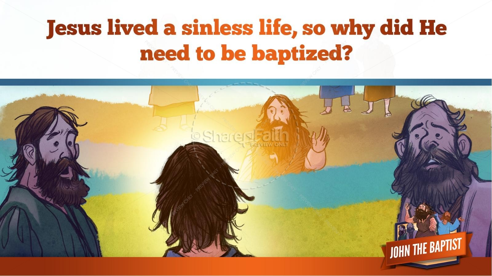 John The Baptist Kids Bible Story