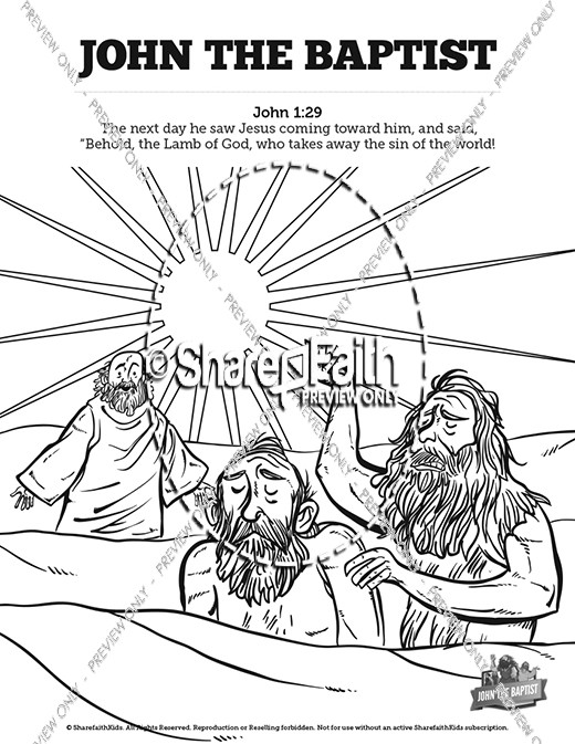 John The Baptist Sunday School Coloring Pages Sunday