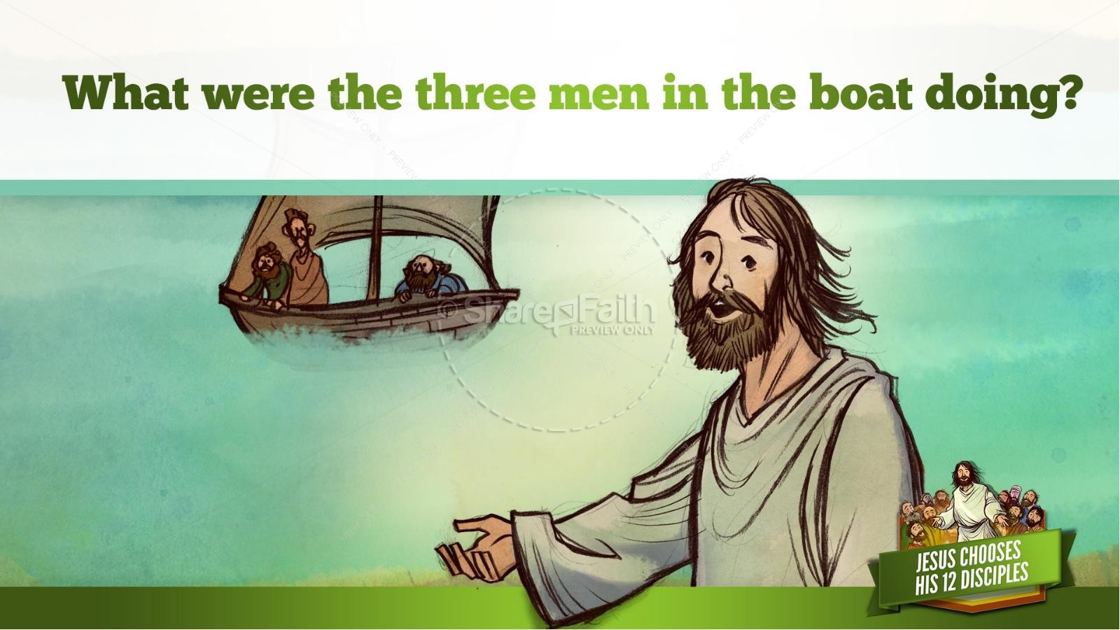 Jesus Chooses His 12 Disciples Kids Bible Story