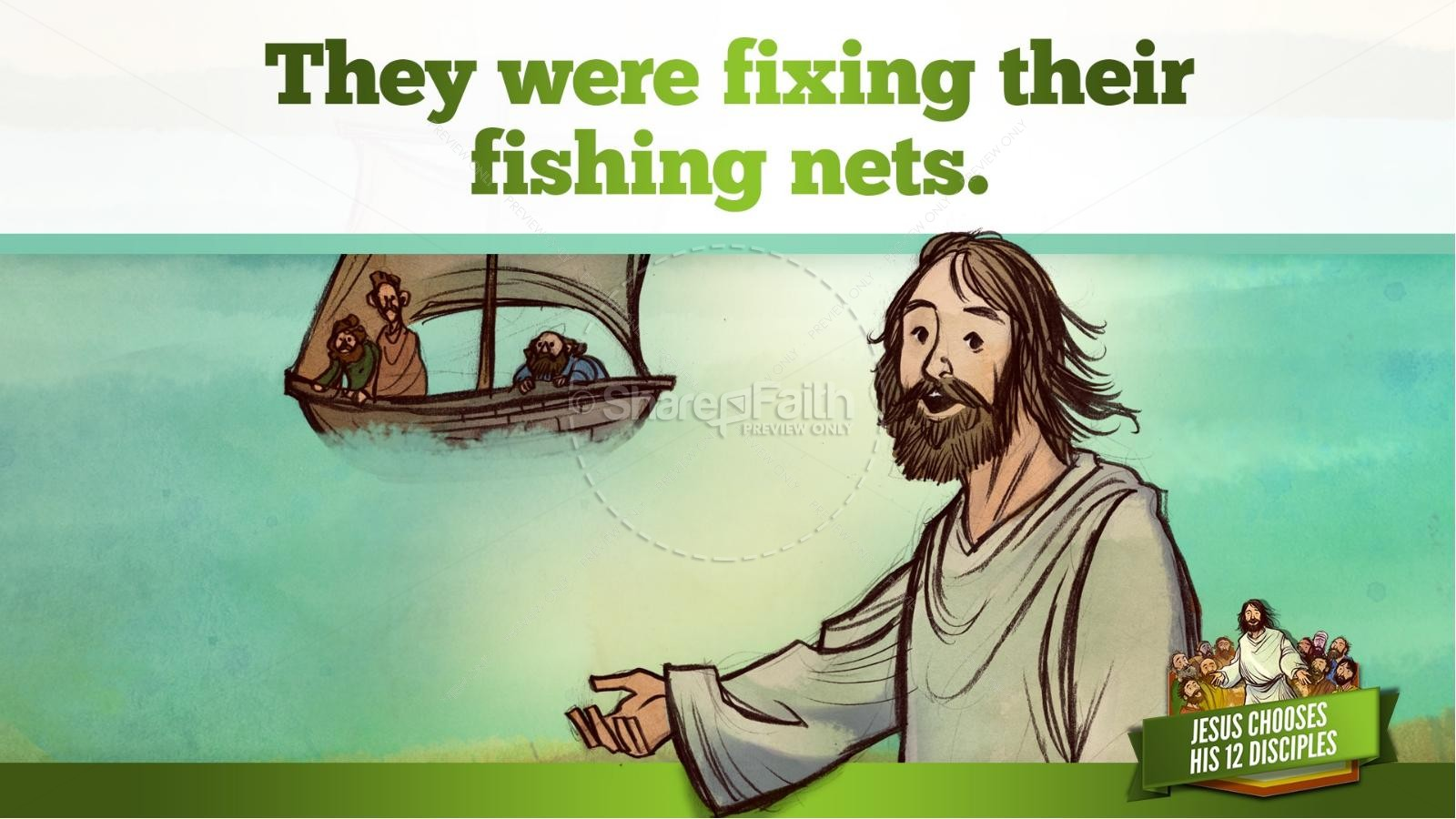 Jesus Chooses His 12 Disciples Kids Bible Story | slide 19