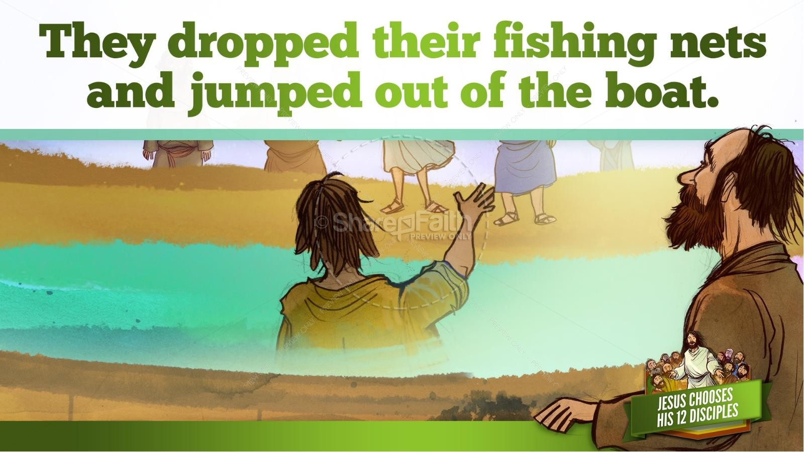 Jesus Chooses His 12 Disciples Kids Bible Story | slide 23
