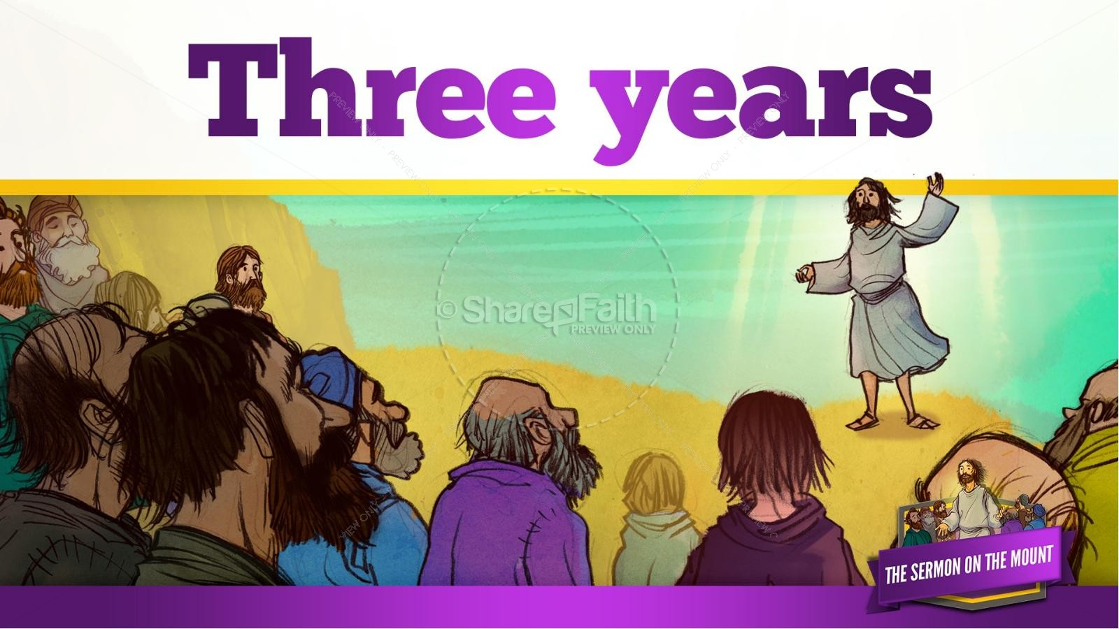 Sermon On the Mount (Beatitudes) Kids Bible Story | slide 11