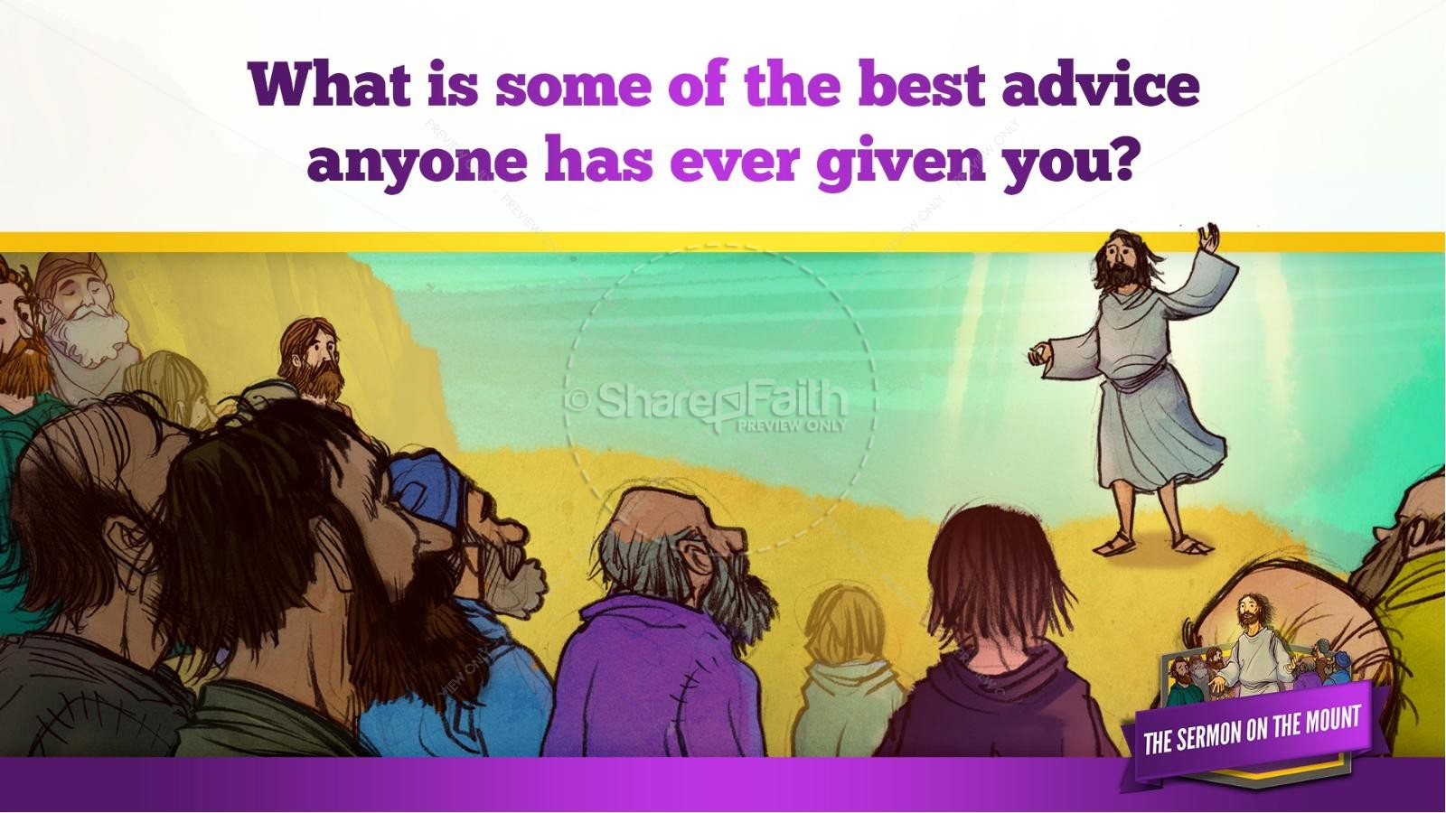 Sermon On the Mount (Beatitudes) Kids Bible Story | slide 12