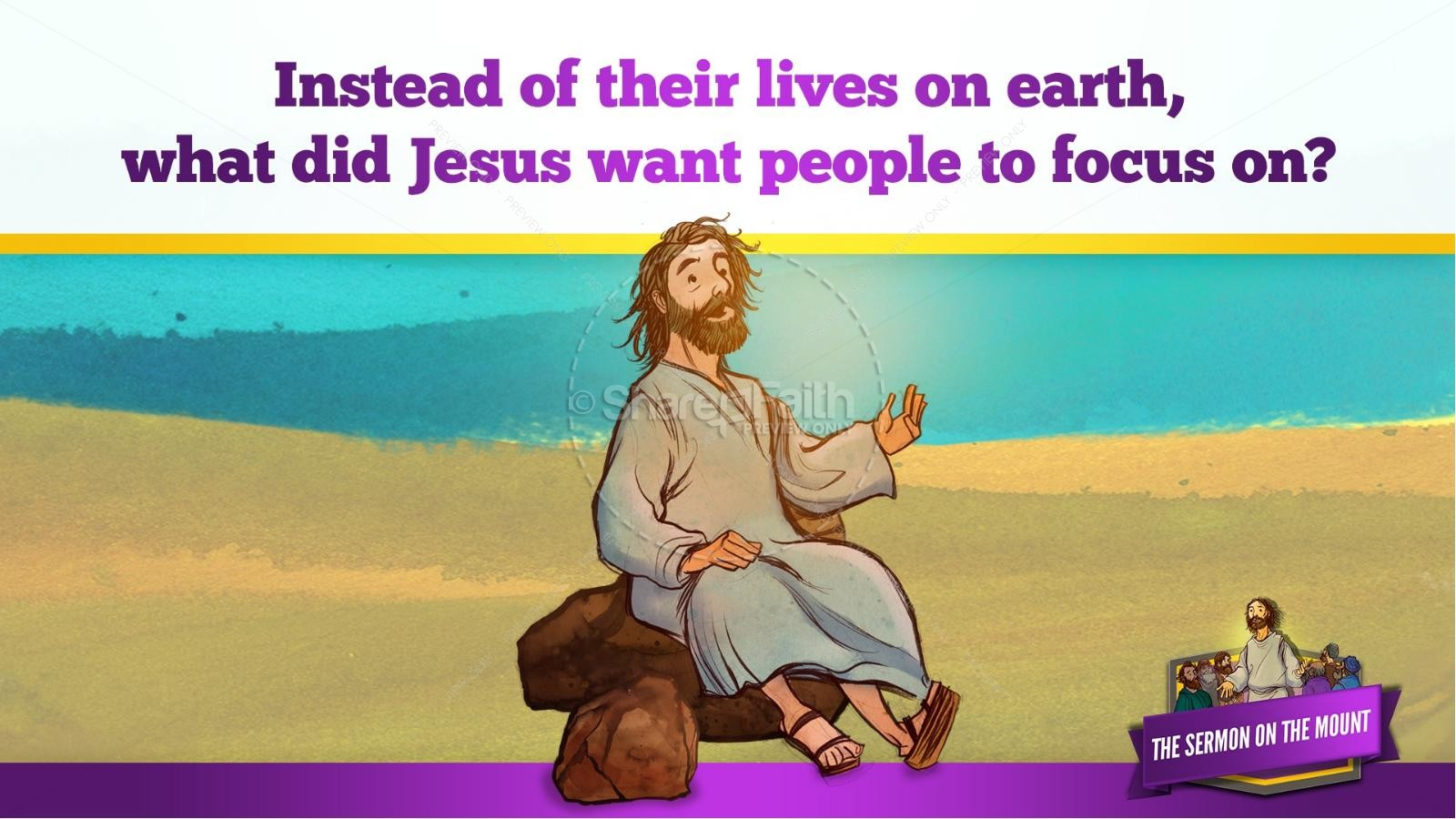 Sermon On the Mount (Beatitudes) Kids Bible Story | slide 18
