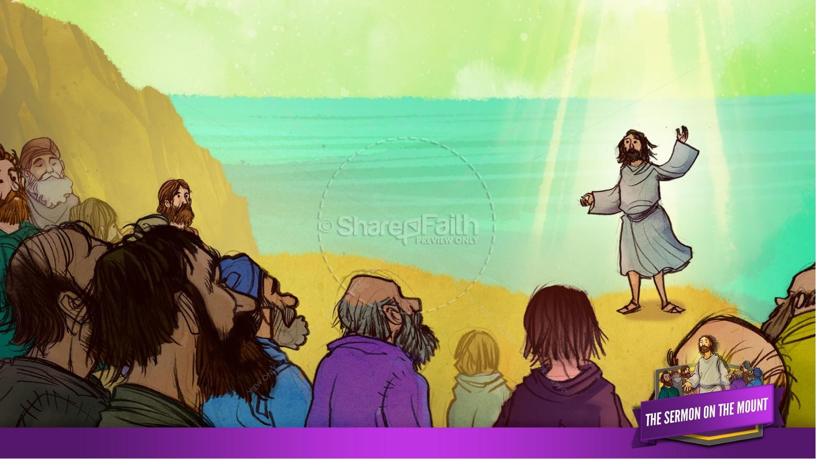 Sermon On the Mount (Beatitudes) Kids Bible Story