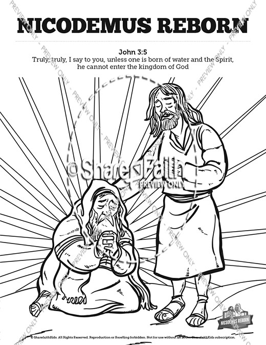Jesus And Nicodemus Coloring Pages