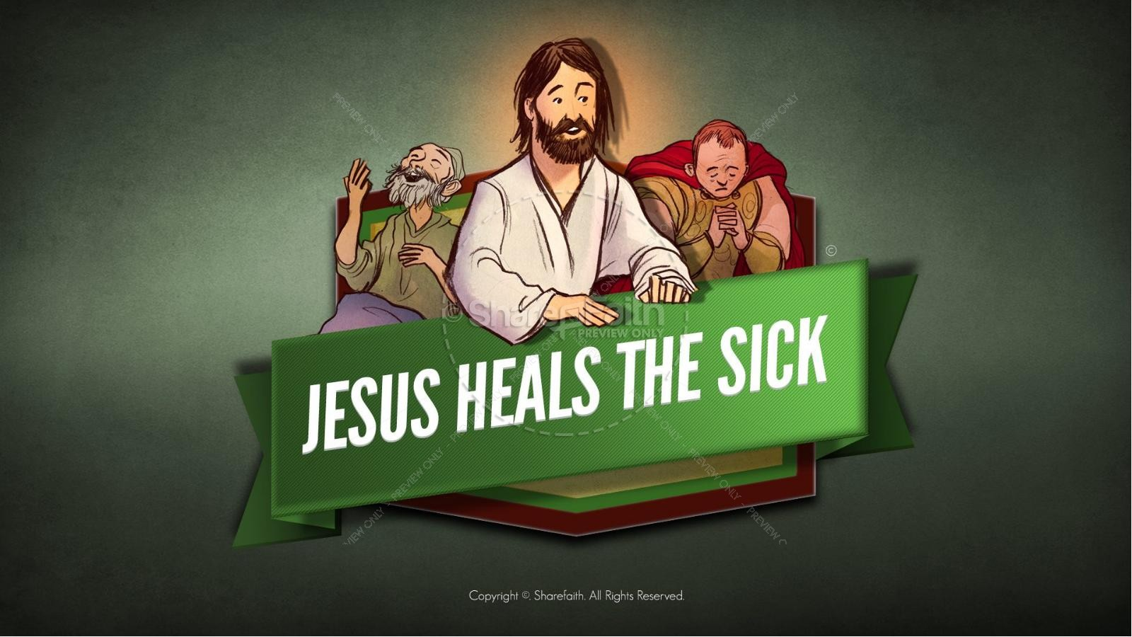 Jesus Heals The Sick Kids Bible Stories | slide 1