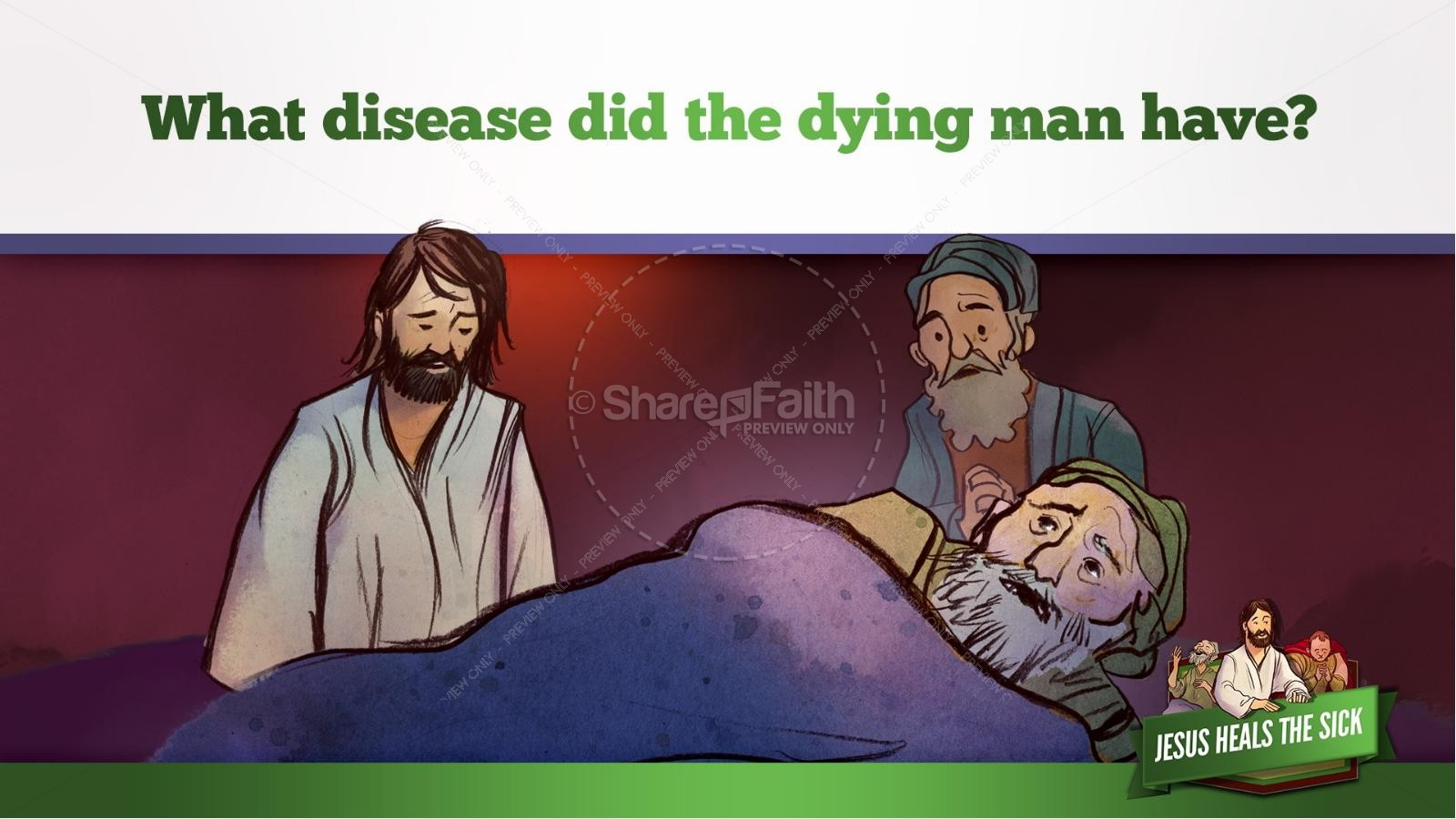Jesus Heals The Sick Kids Bible Stories