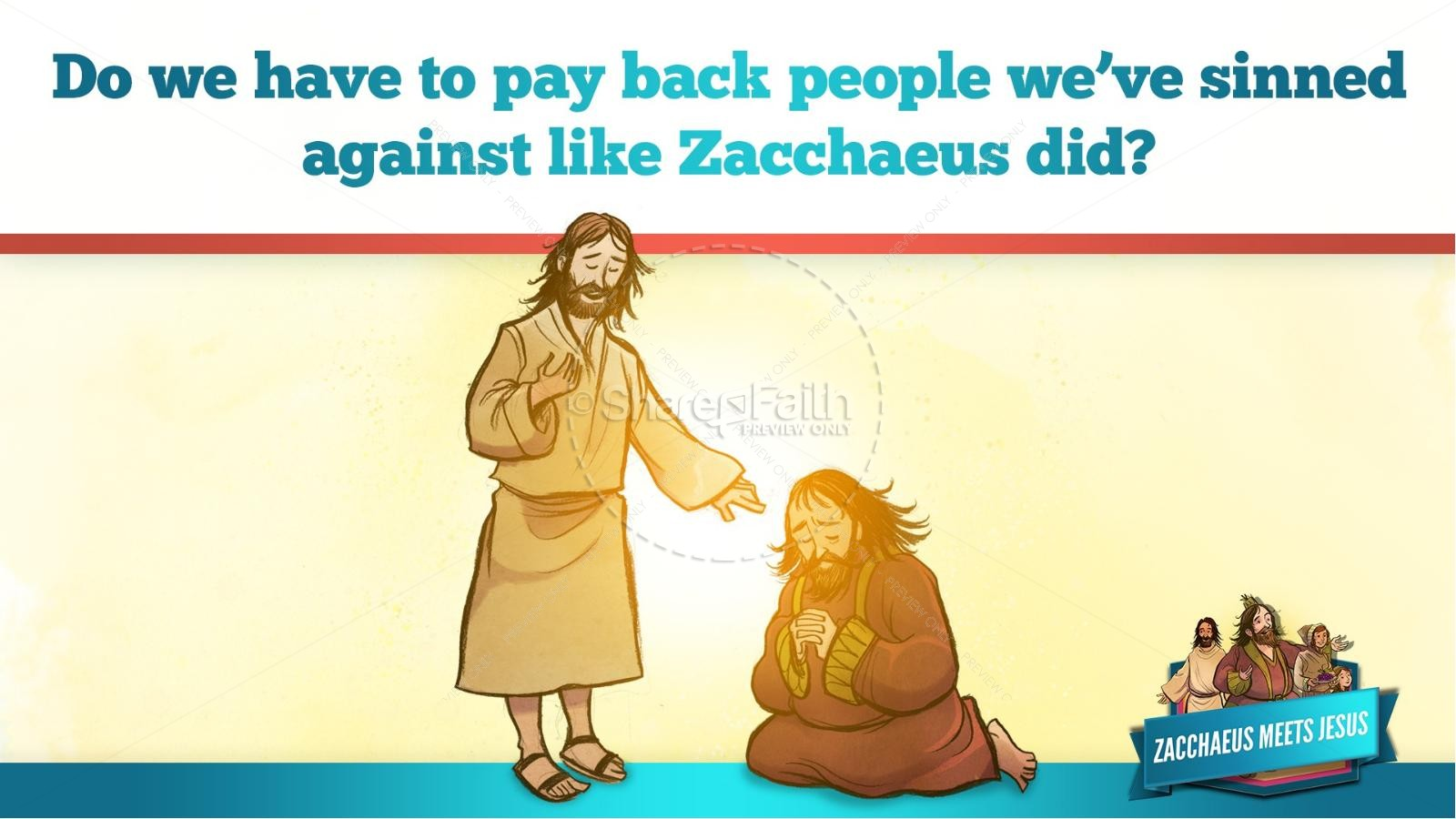 Luke 19 Story of Zacchaeus Kids Bible Lesson