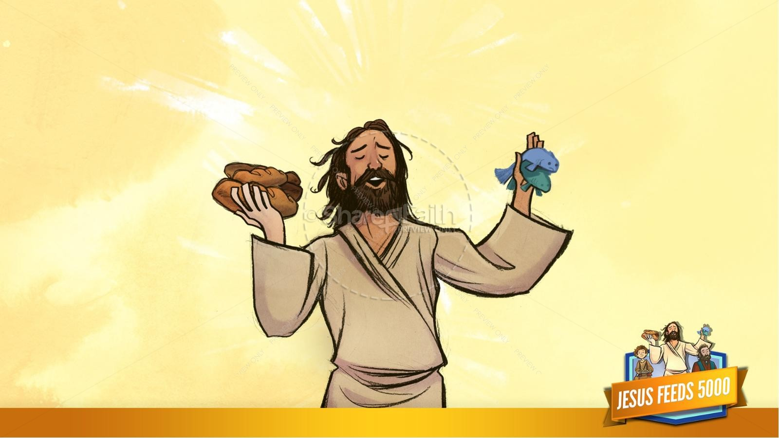 Jesus Feeds 5000 Kids Bible Story