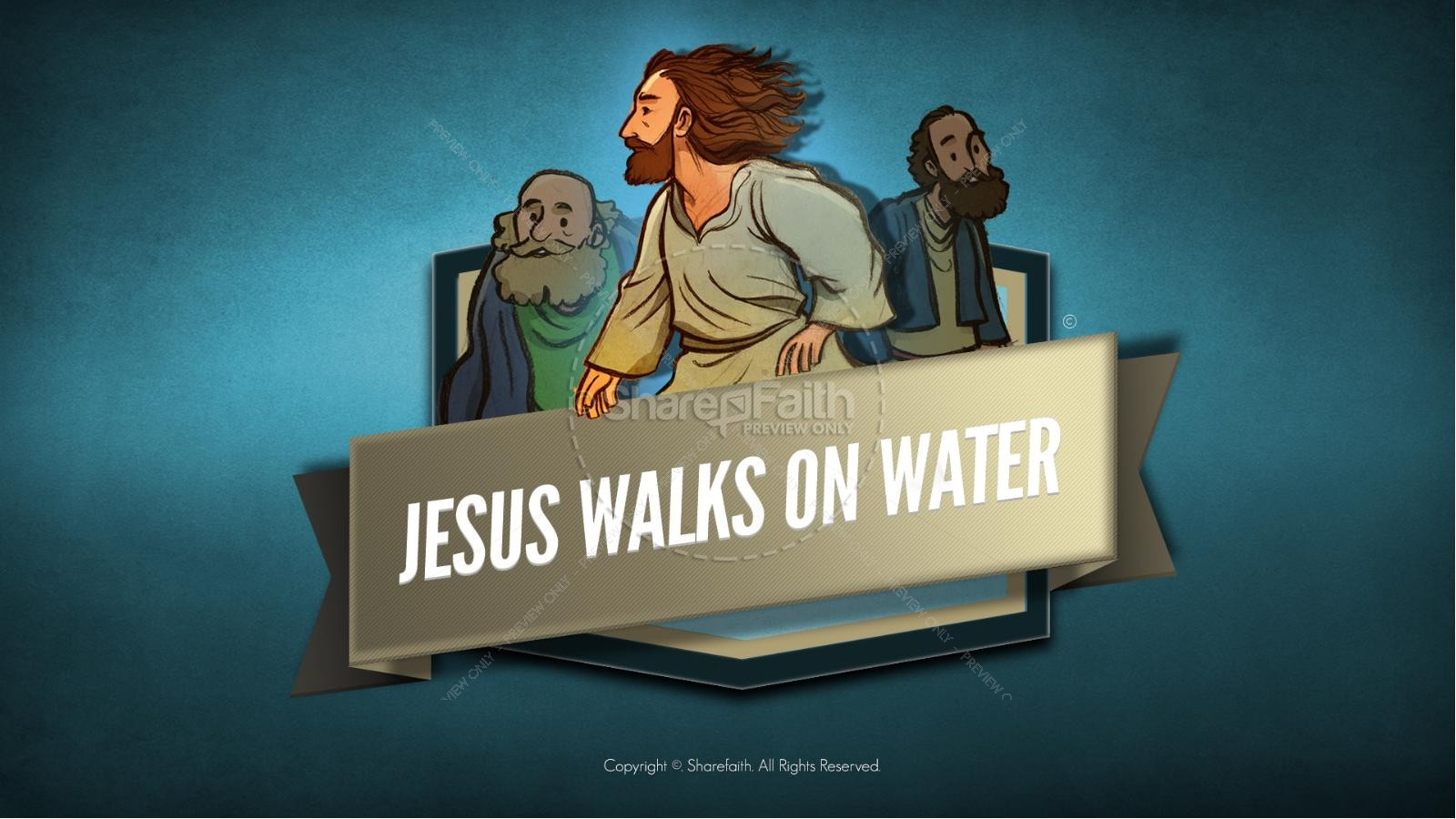 Jesus Walks On Water Kids Bible Story