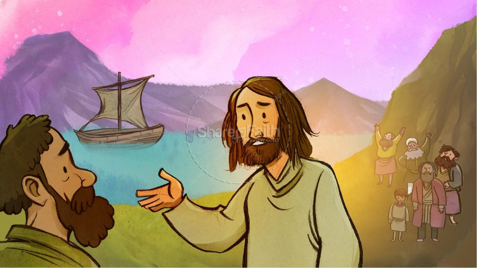 Jesus Walks On Water Kids Bible Story | slide 2