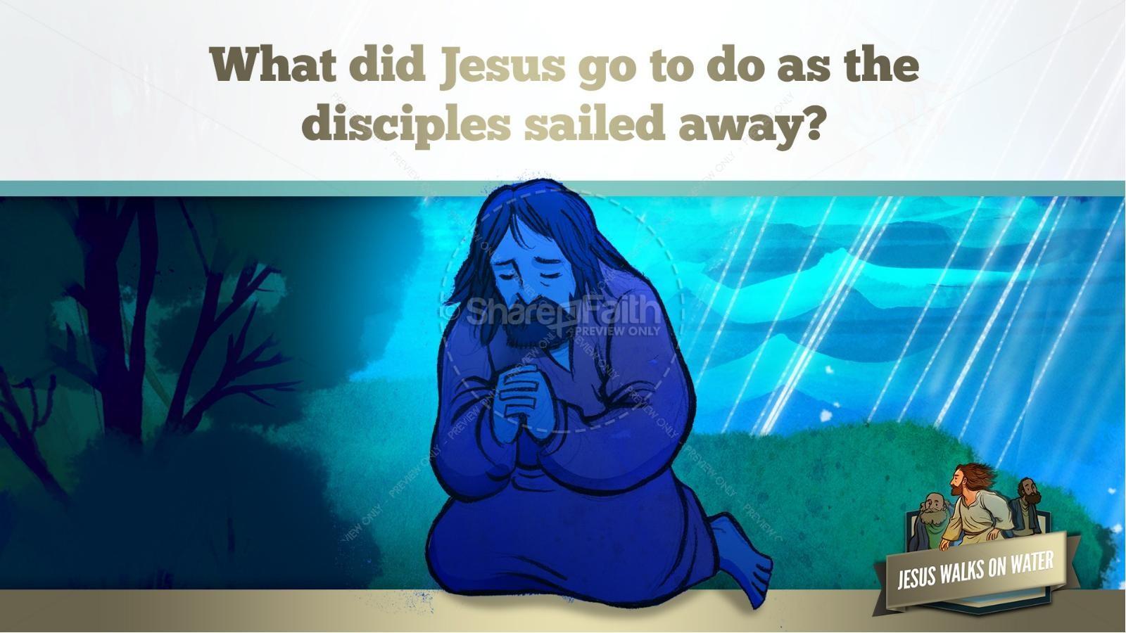Jesus Walks On Water Kids Bible Story | slide 16
