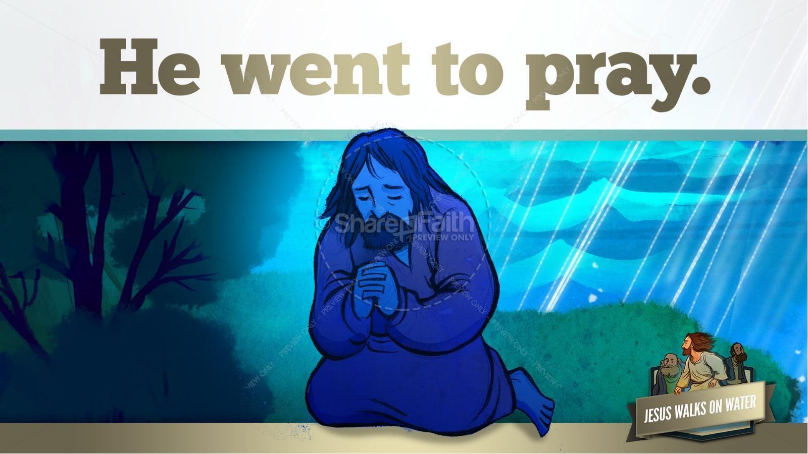 Jesus Walks On Water Kids Bible Story | slide 17