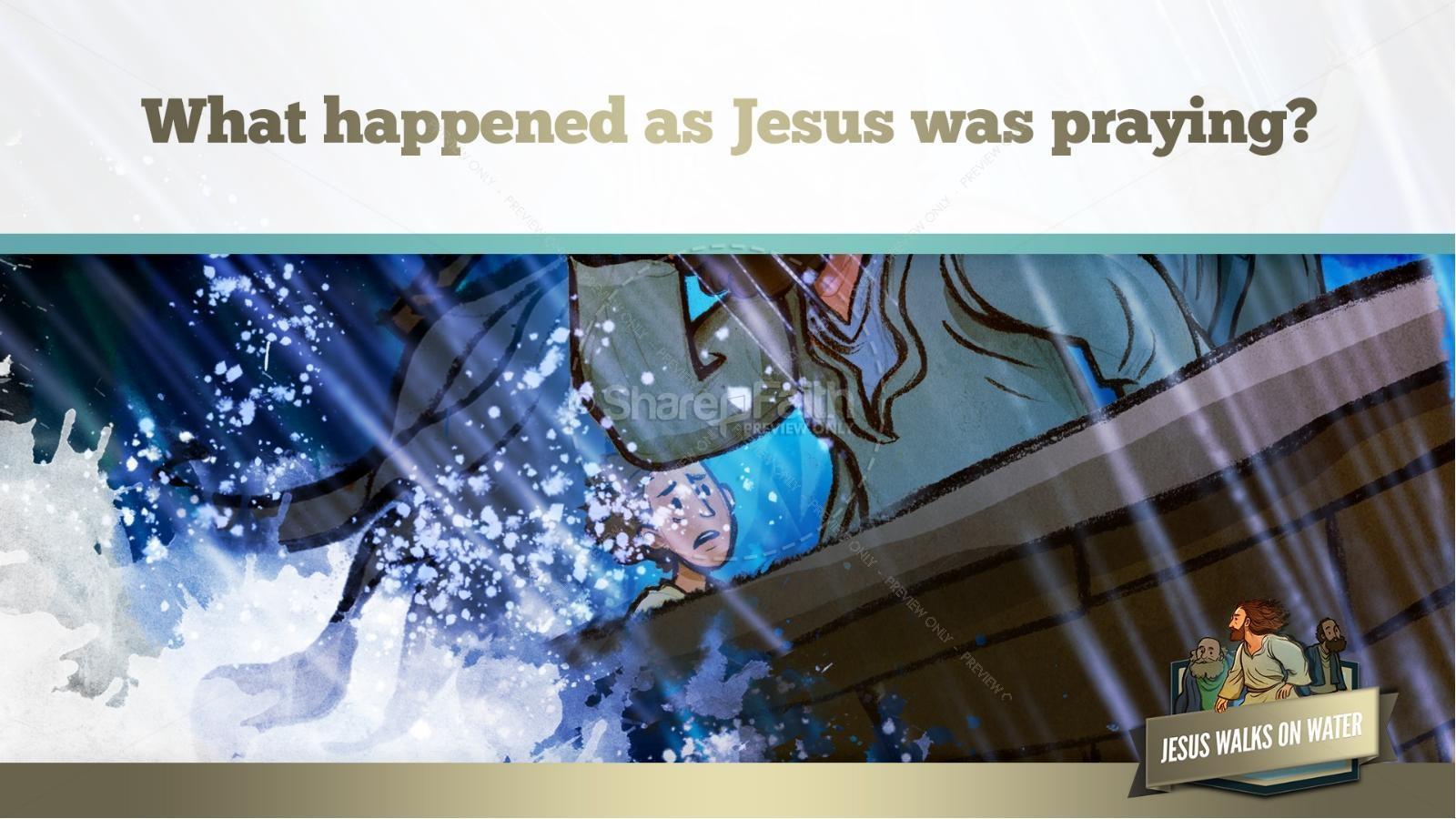 Jesus Walks On Water Kids Bible Story
