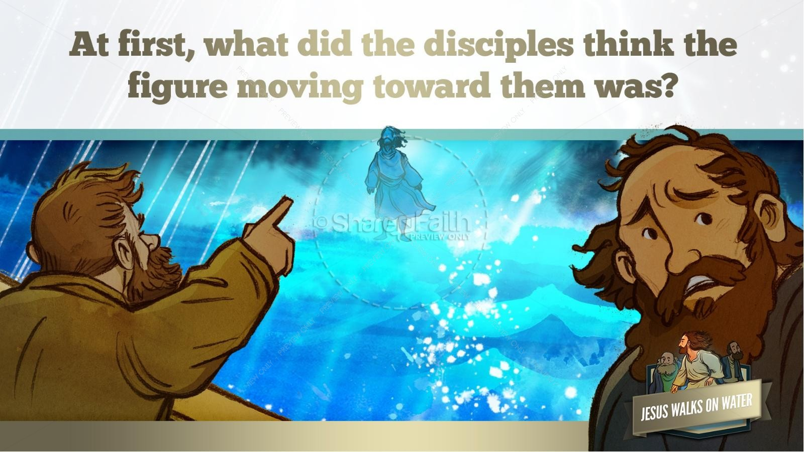 Jesus Walks On Water Kids Bible Story | slide 28