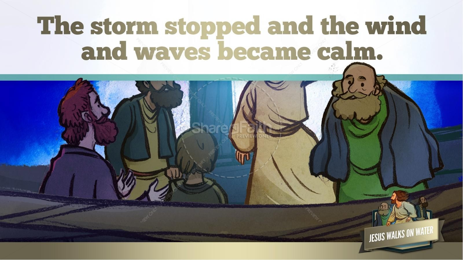 Jesus Walks On Water Kids Bible Story | slide 41