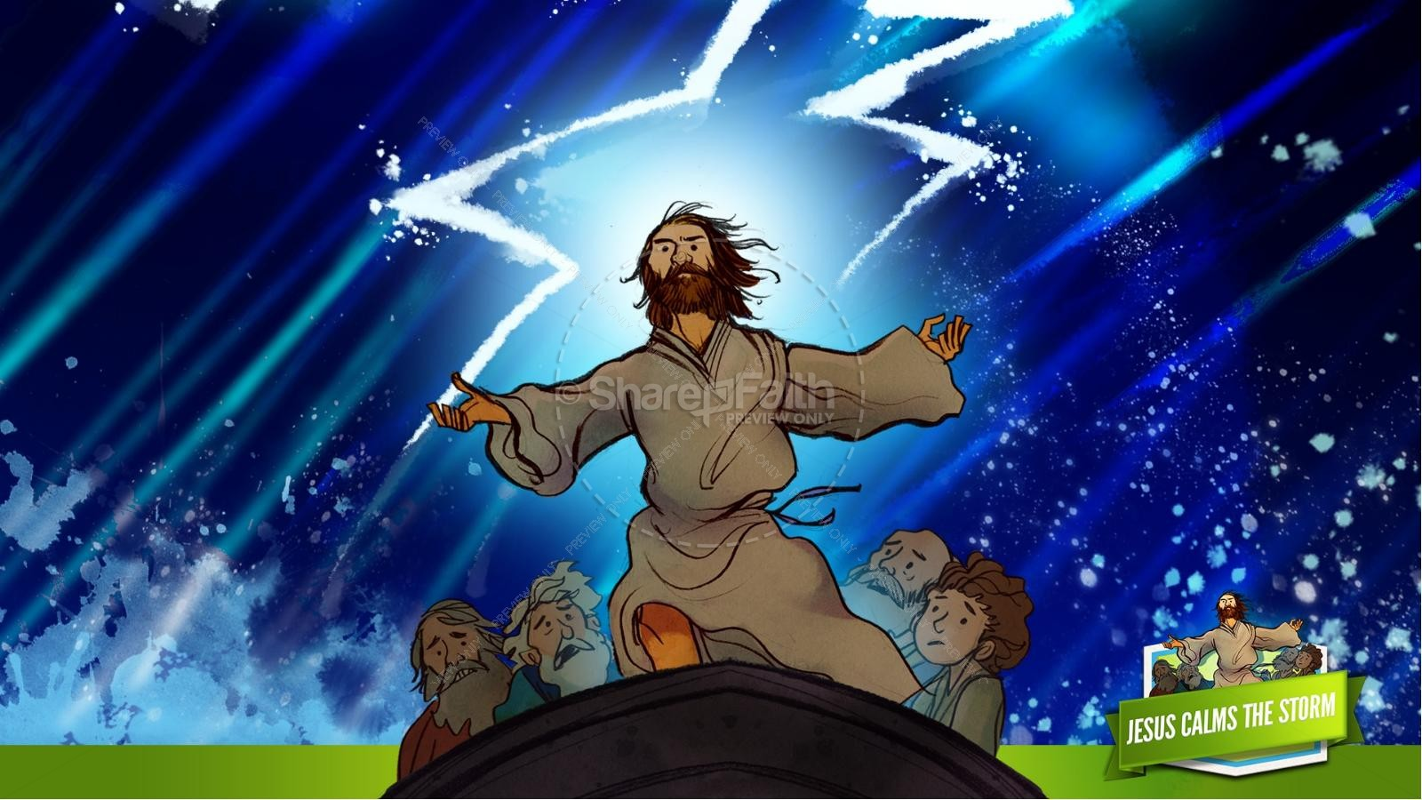 Jesus Calms The Storm Kids Bible Story | slide 20