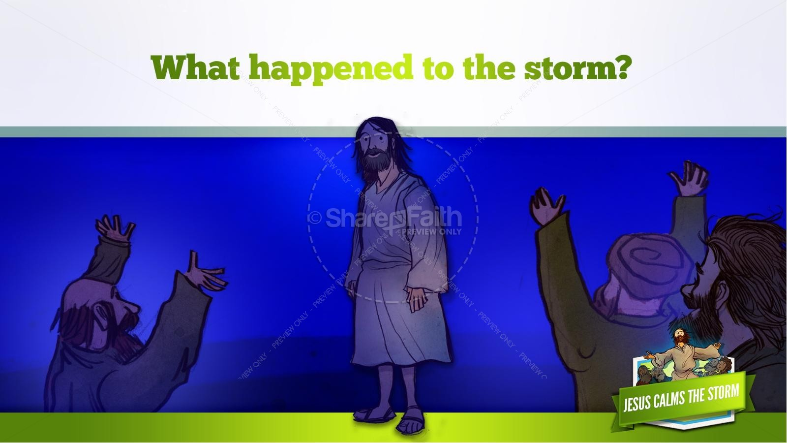 Jesus Calms The Storm Kids Bible Story