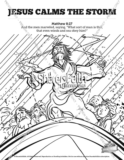 Jesus Calms The Storm Bible Bookmarks