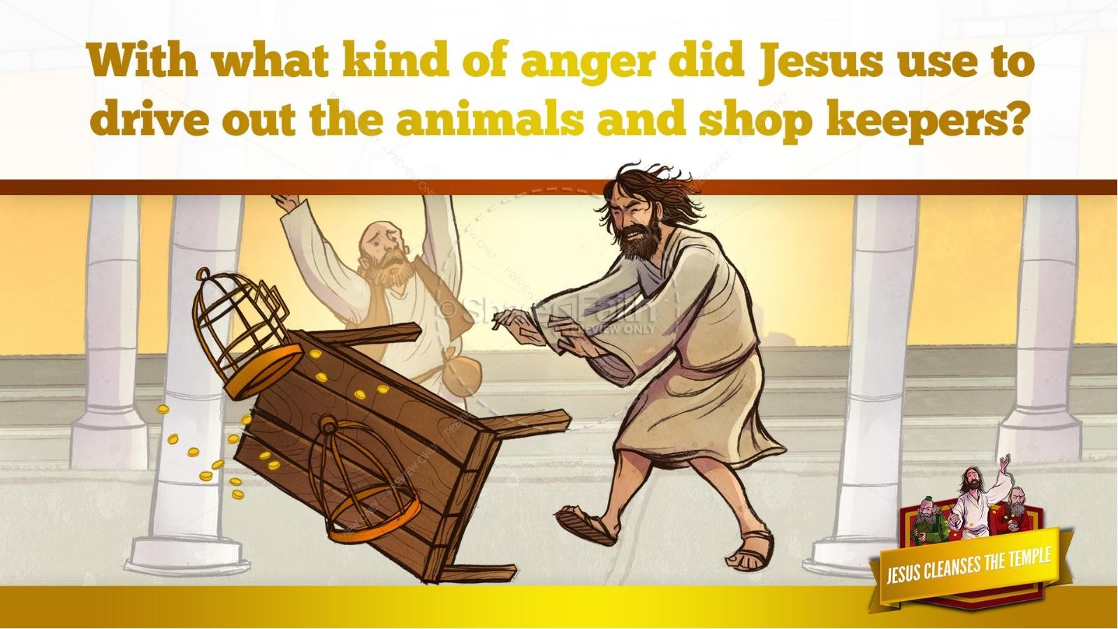 Matthew 21 Jesus Cleanses the Temple Kids Bible Story