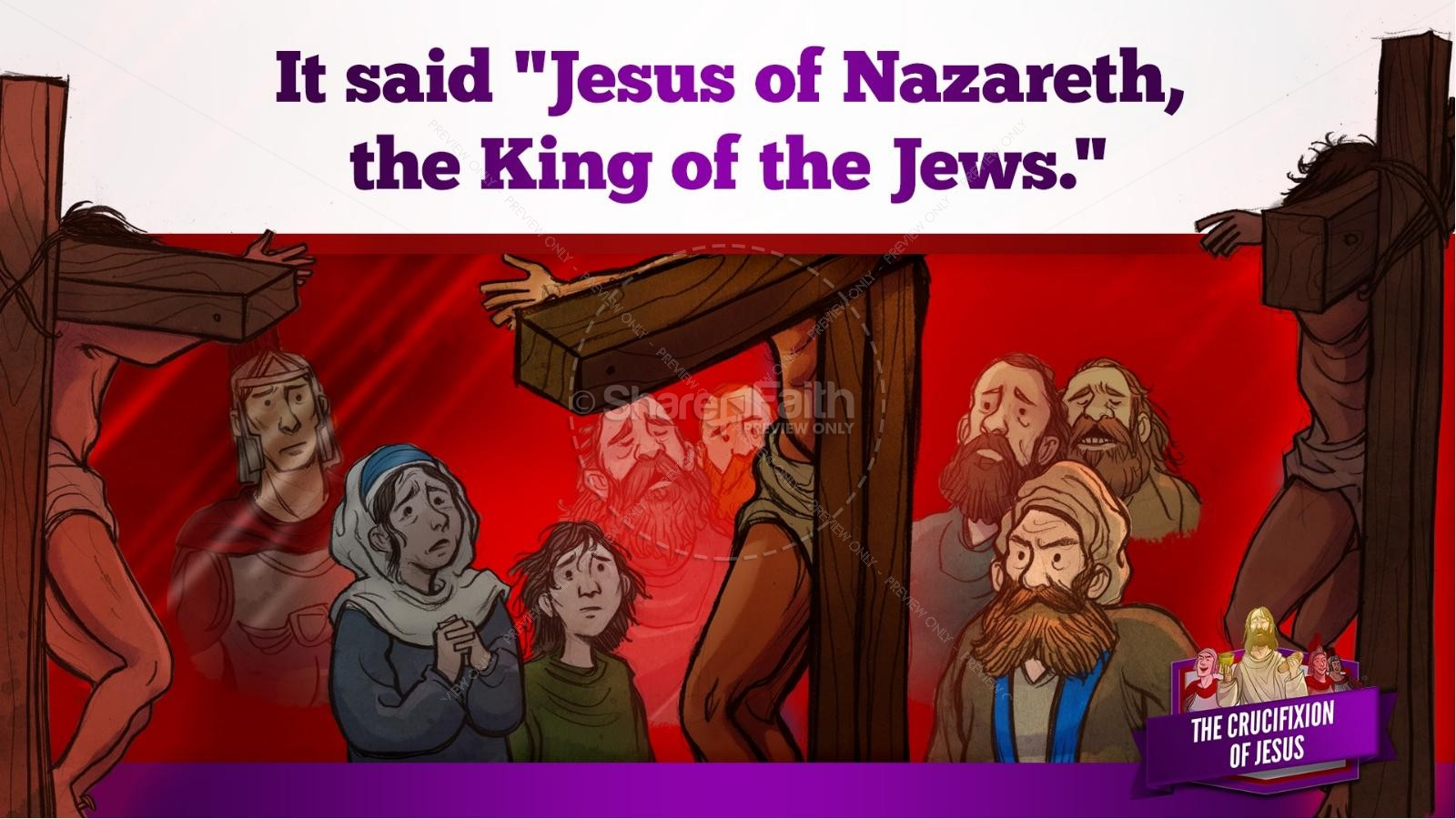 Jesus' Crucifixion Kids Bible Story | slide 102