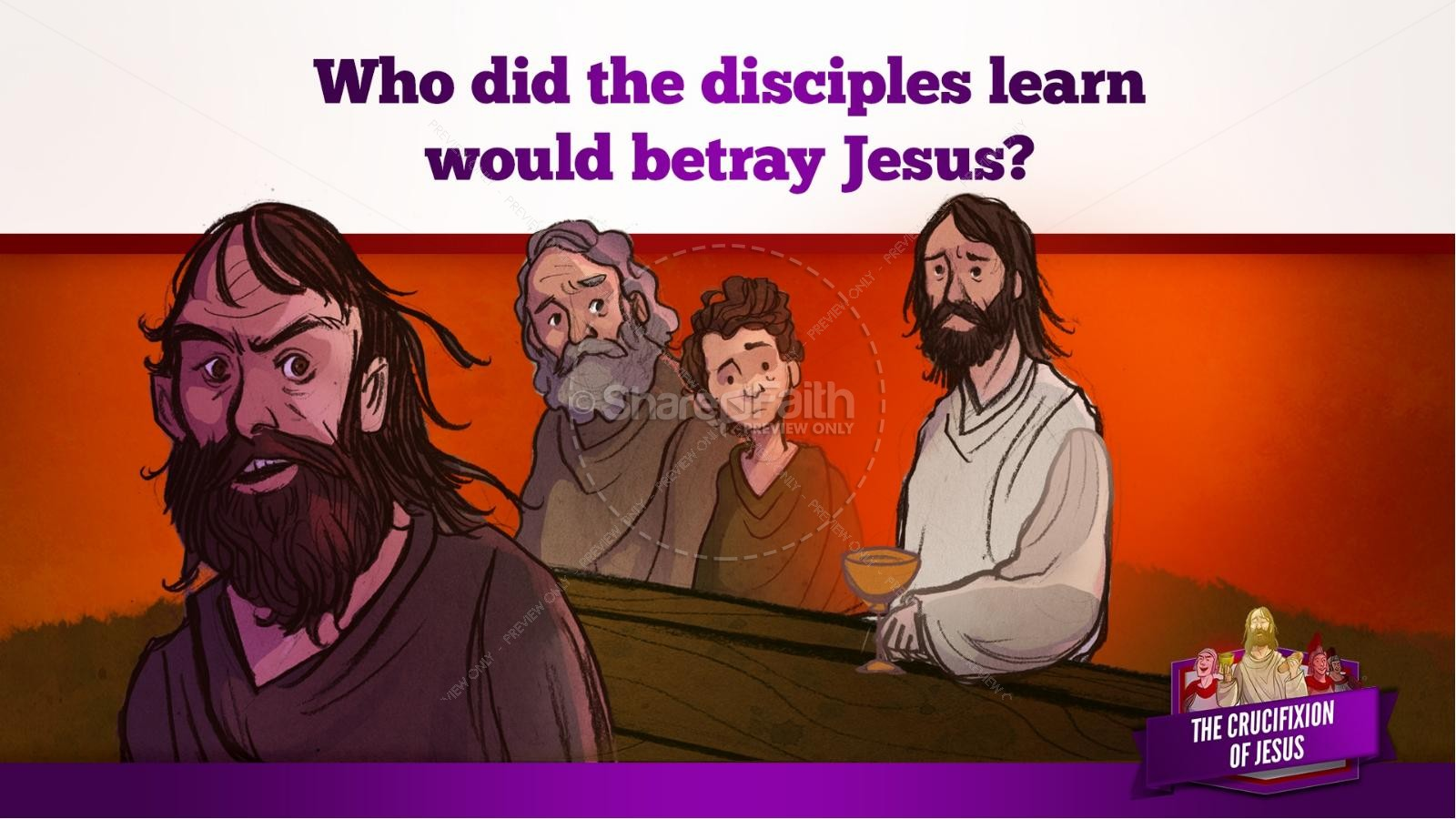 Jesus' Crucifixion Kids Bible Story | slide 33