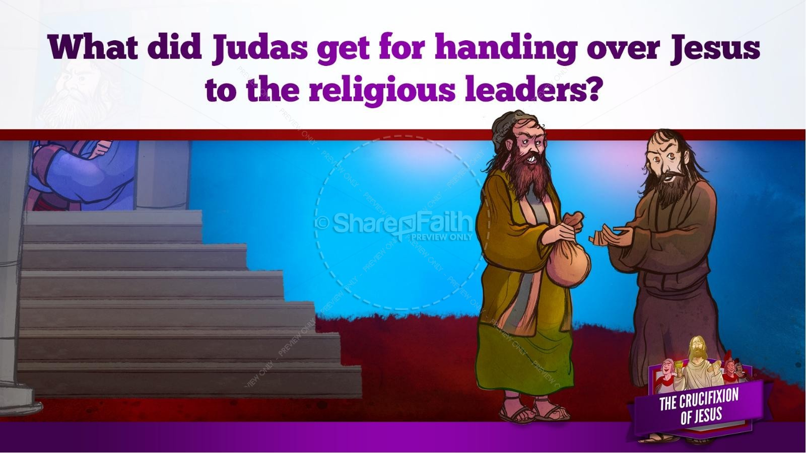 Jesus' Crucifixion Kids Bible Story | slide 41