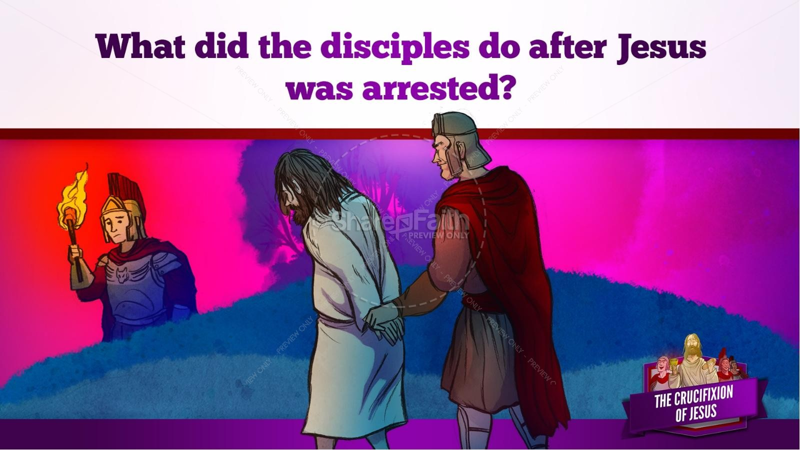 Jesus' Crucifixion Kids Bible Story | slide 65