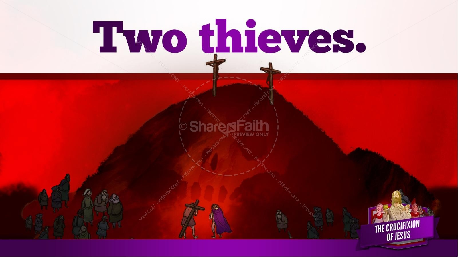 Jesus' Crucifixion Kids Bible Story | slide 98