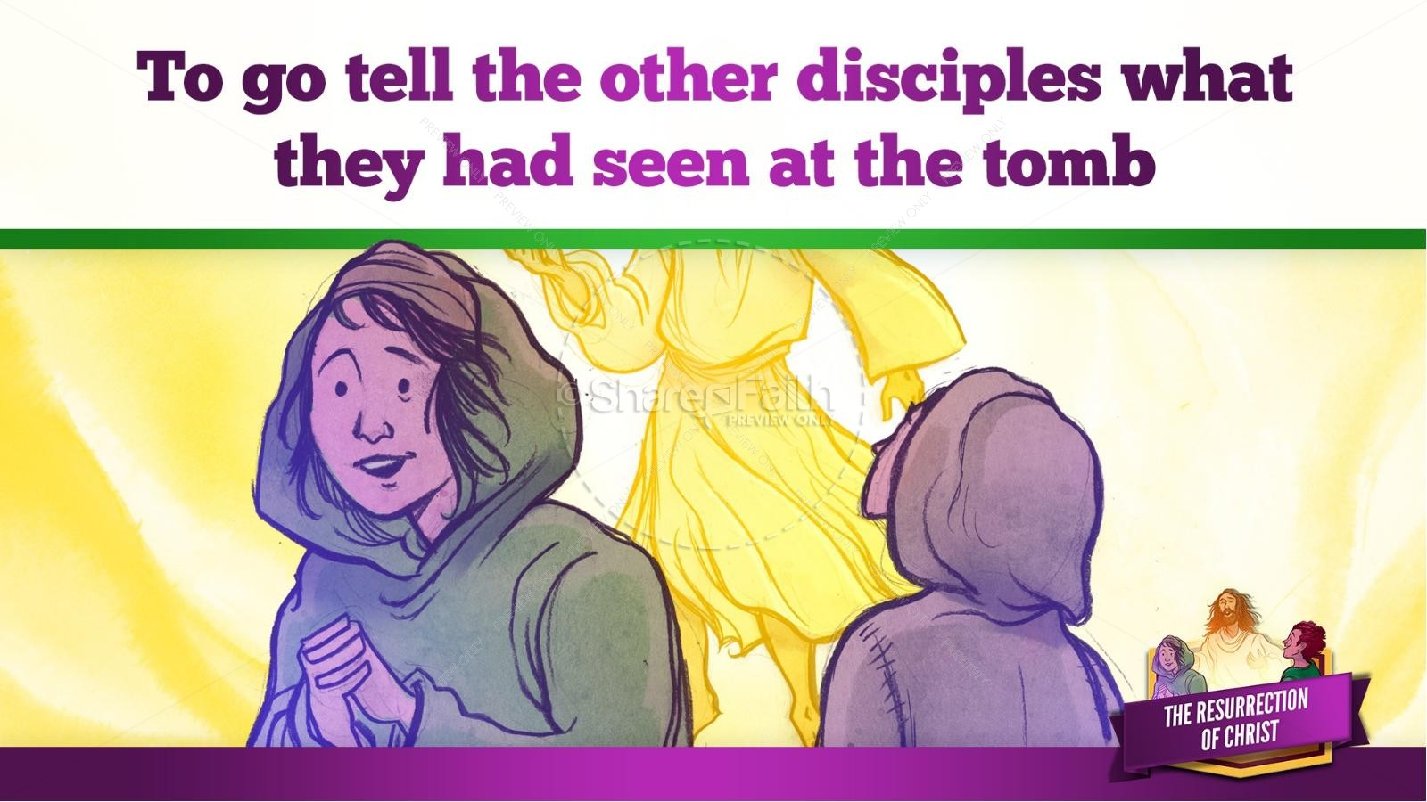 Jesus' Resurrection Kids Bible Story | slide 20
