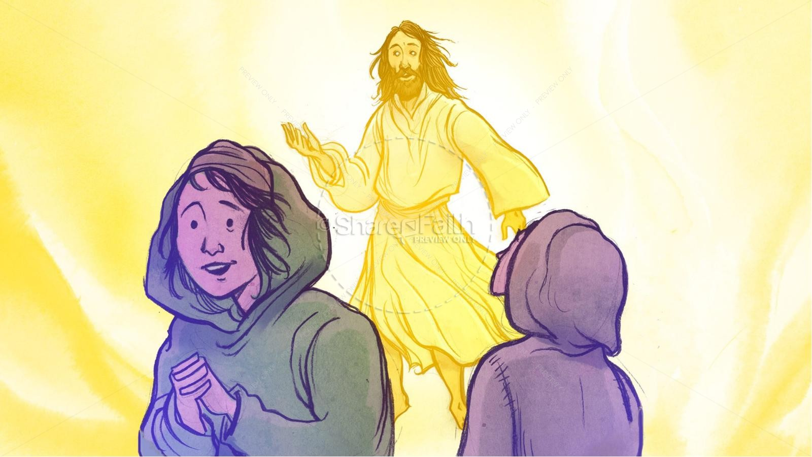 Jesus' Resurrection Kids Bible Story | slide 4