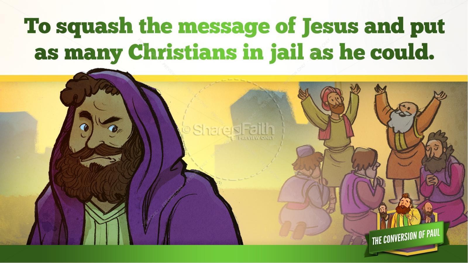 Acts 9 Paul's Conversion Kids Bible Stories