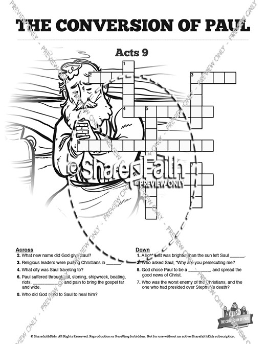 Saul On The Road To Damascus Coloring Page