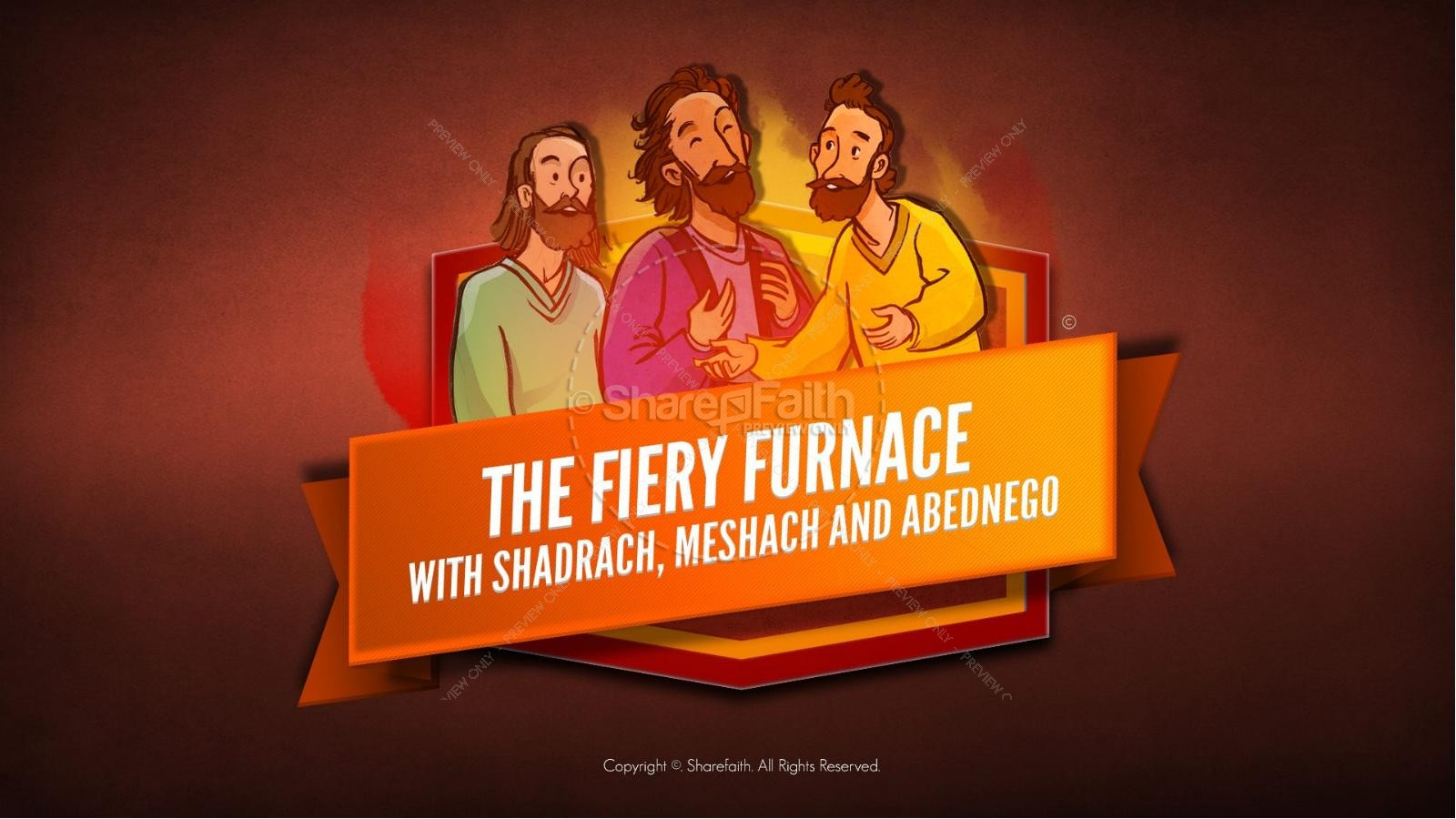The Fiery Furnace with Shadrach, Meshach and Abednego Kids Bible Story | slide 1