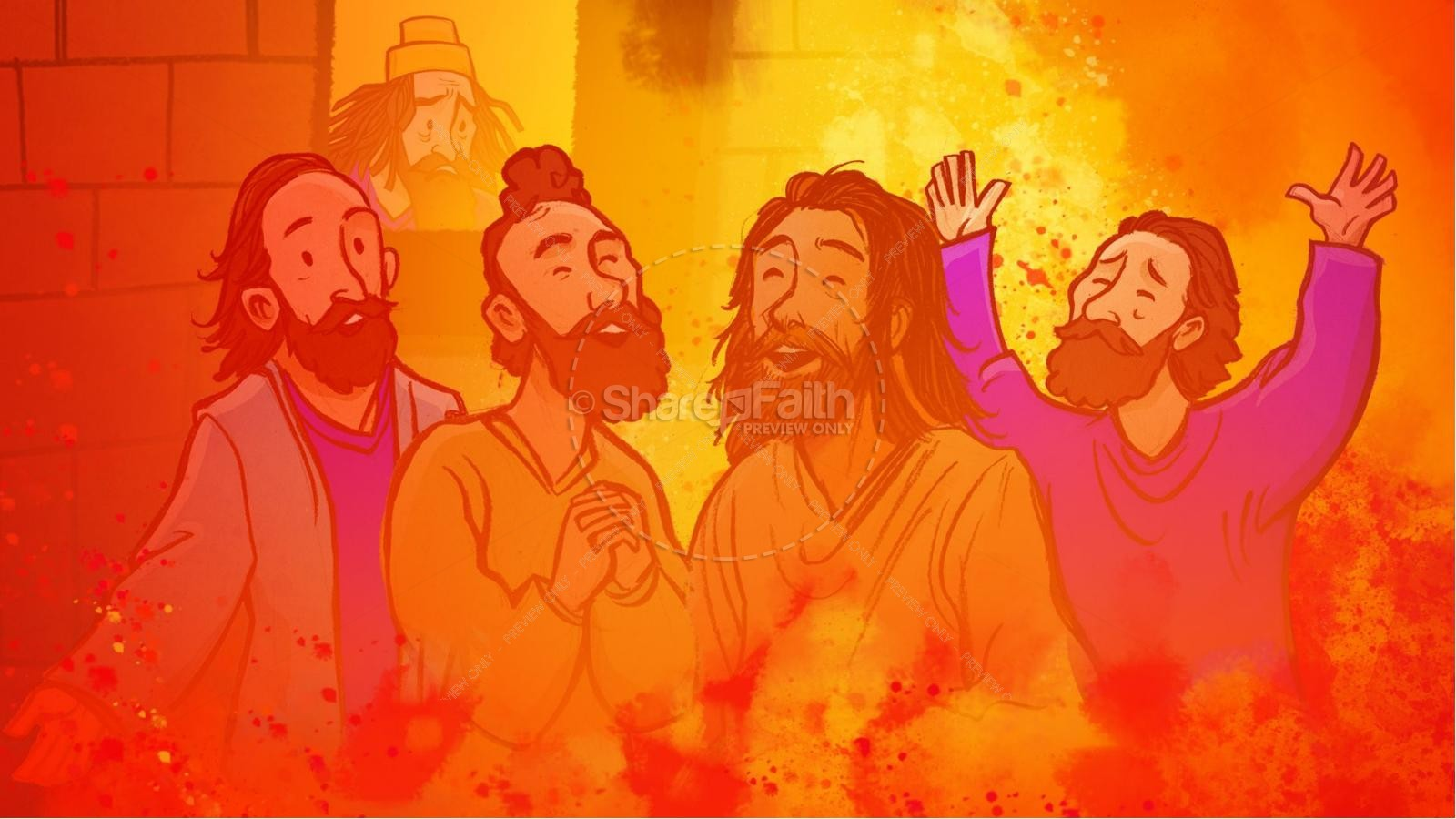 The Fiery Furnace with Shadrach, Meshach and Abednego Kids Bible Story | slide 12