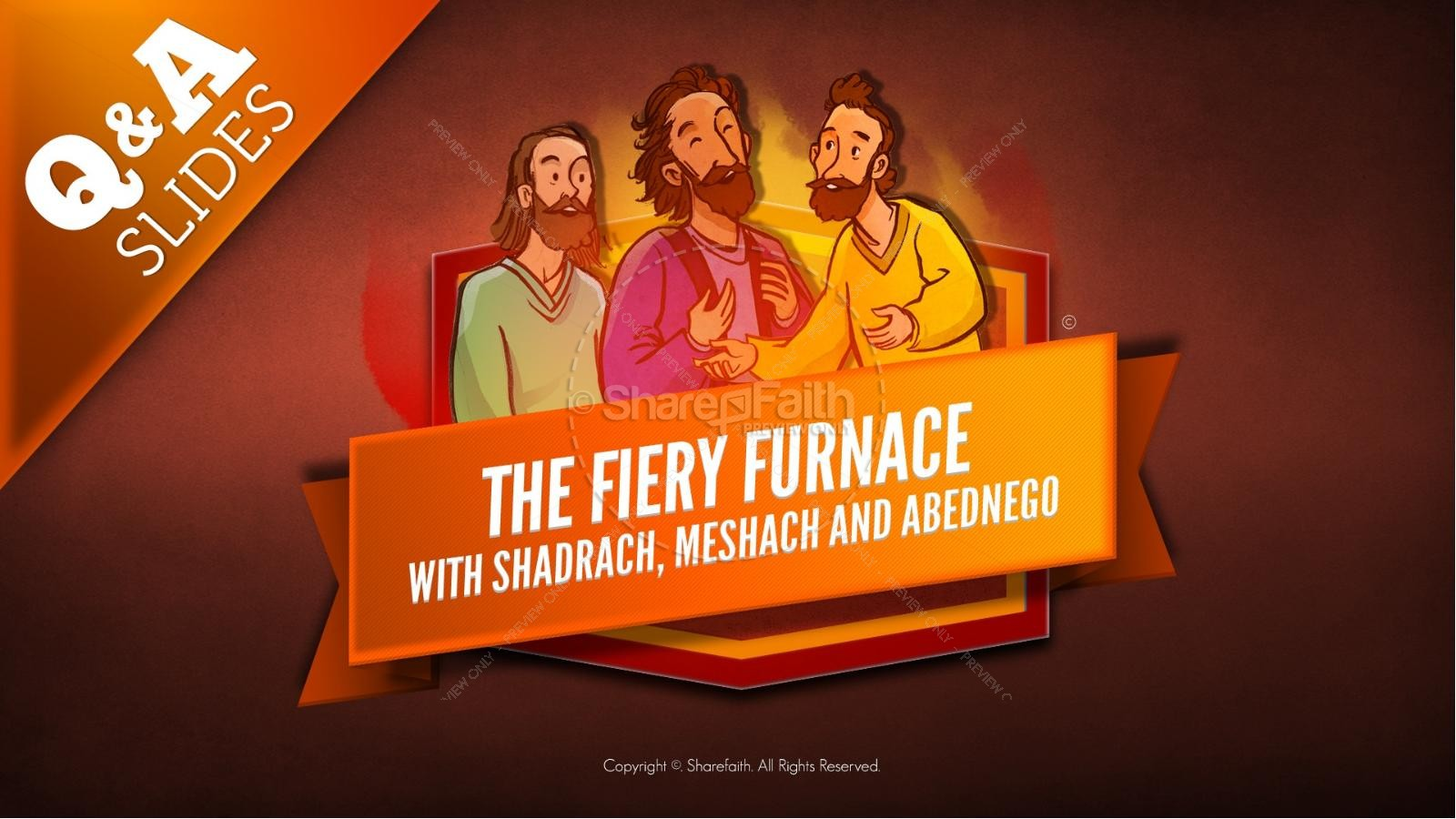 The Fiery Furnace with Shadrach, Meshach and Abednego Kids Bible Story | slide 14