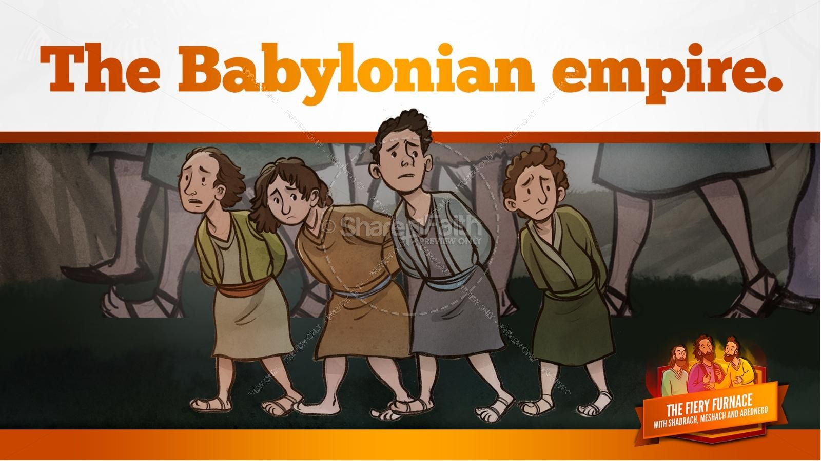 The Fiery Furnace with Shadrach, Meshach and Abednego Kids Bible Story | slide 17