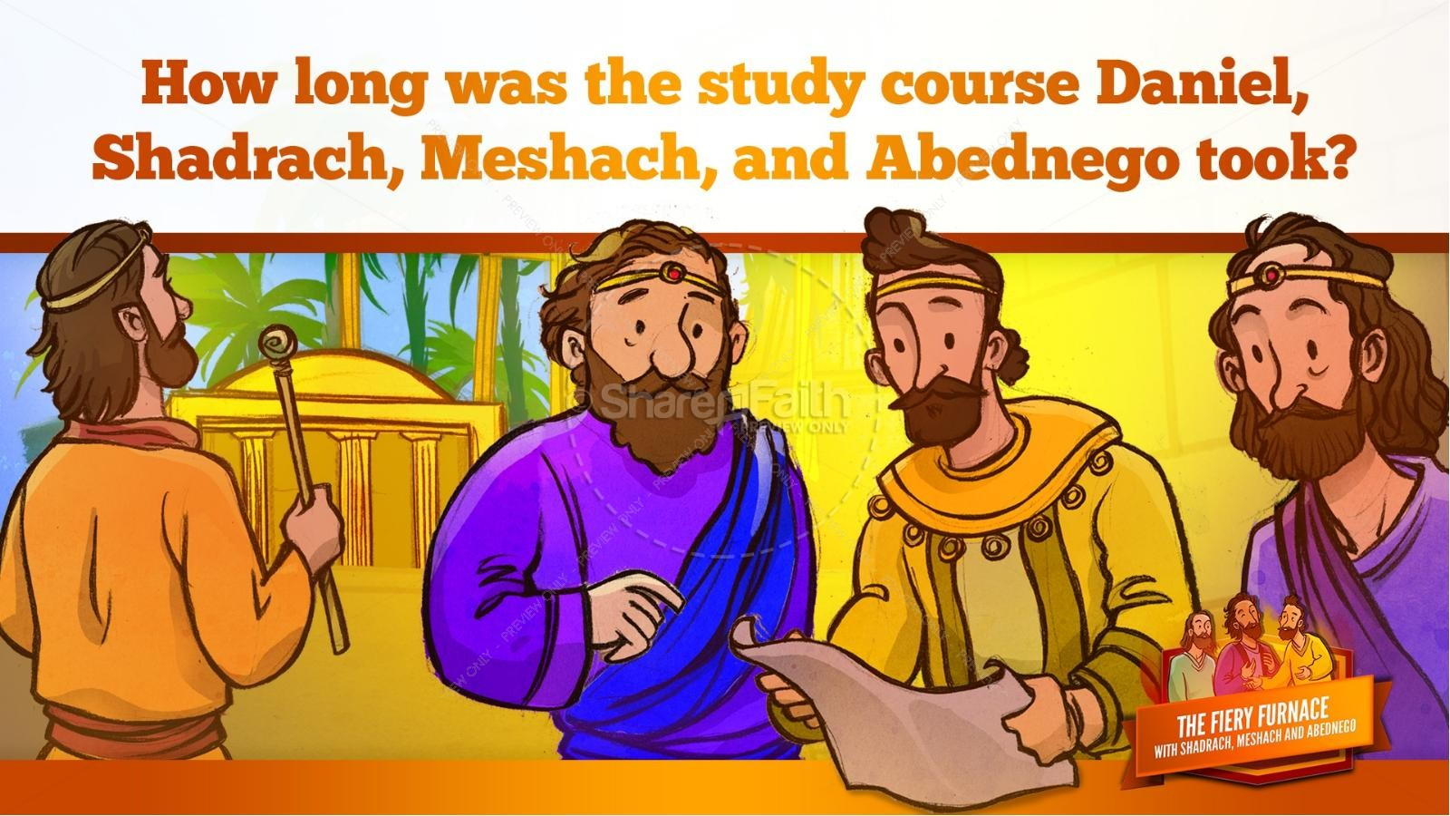 The Fiery Furnace with Shadrach, Meshach and Abednego Kids Bible Story | slide 20