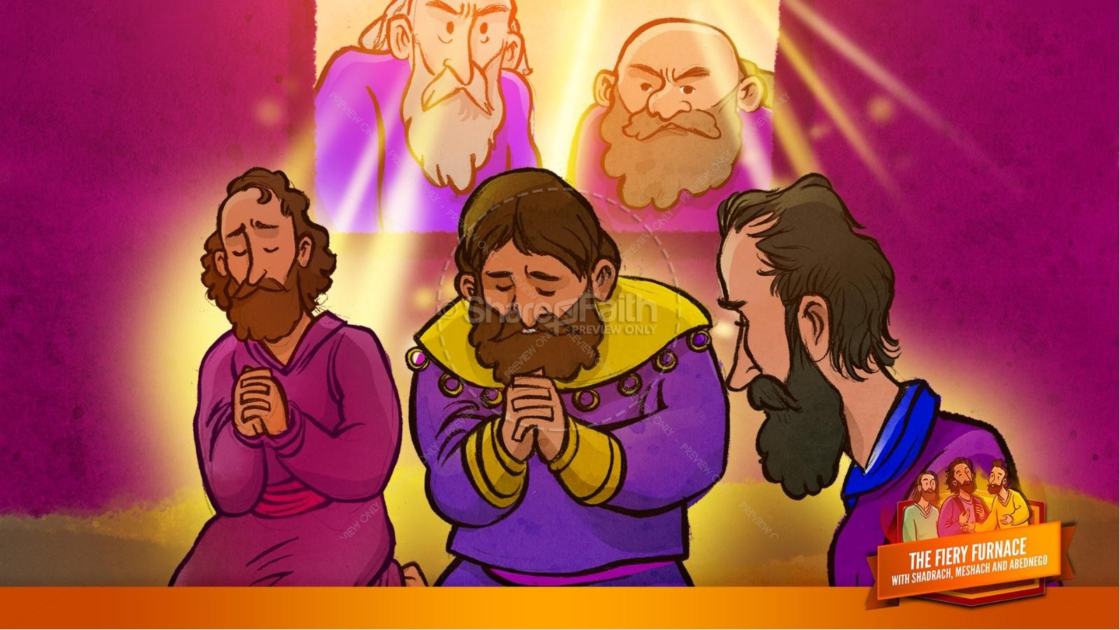 The Fiery Furnace with Shadrach, Meshach and Abednego Kids Bible Story | slide 27