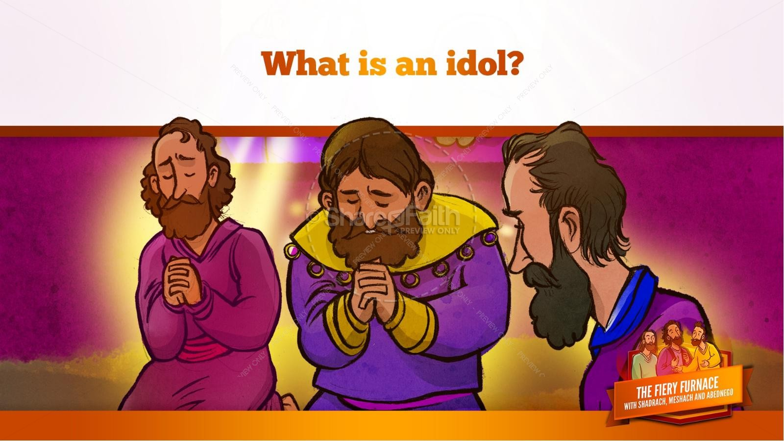 The Fiery Furnace with Shadrach, Meshach and Abednego Kids Bible Story | slide 30