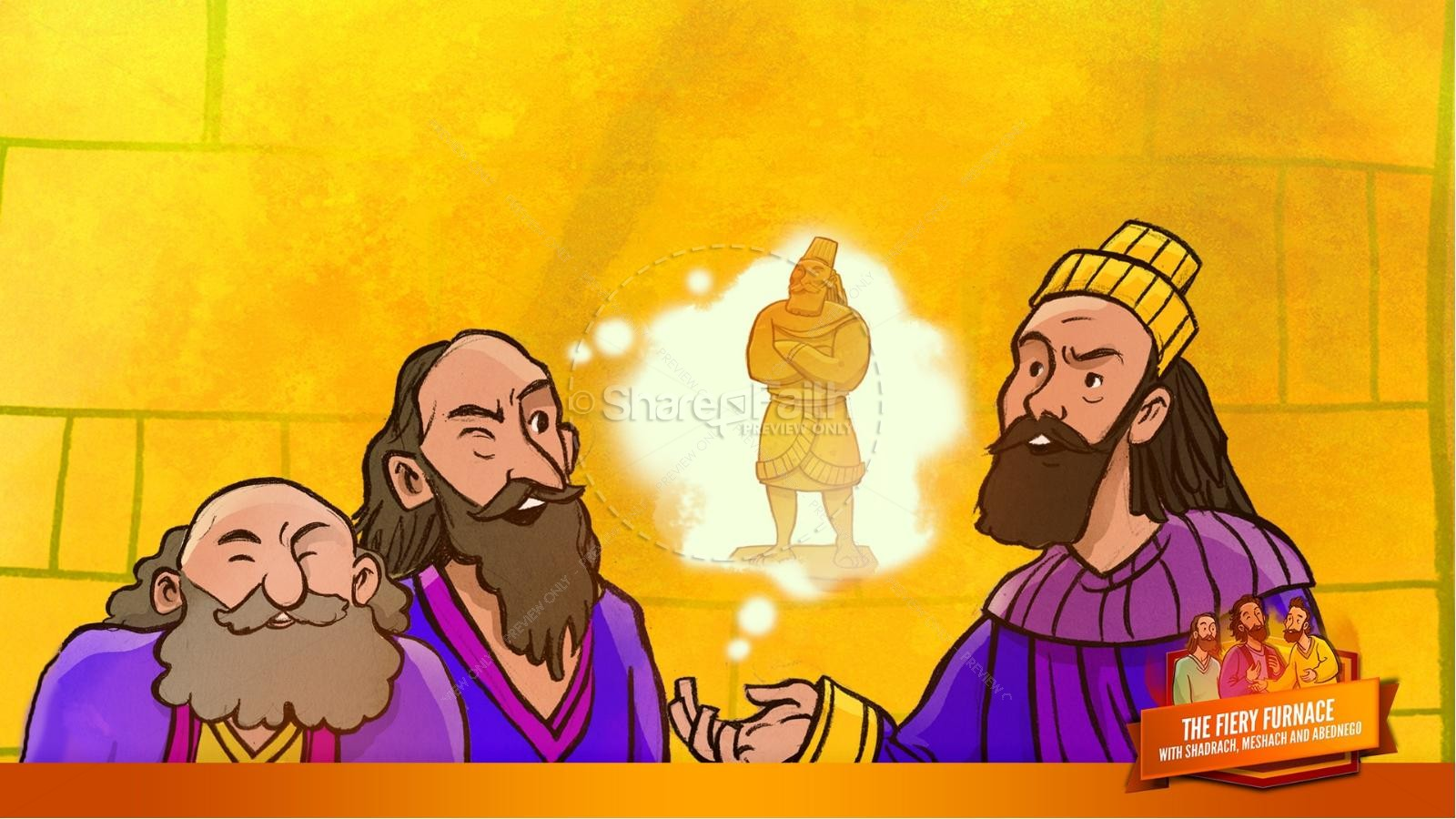 The Fiery Furnace with Shadrach, Meshach and Abednego Kids Bible Story   slide 31