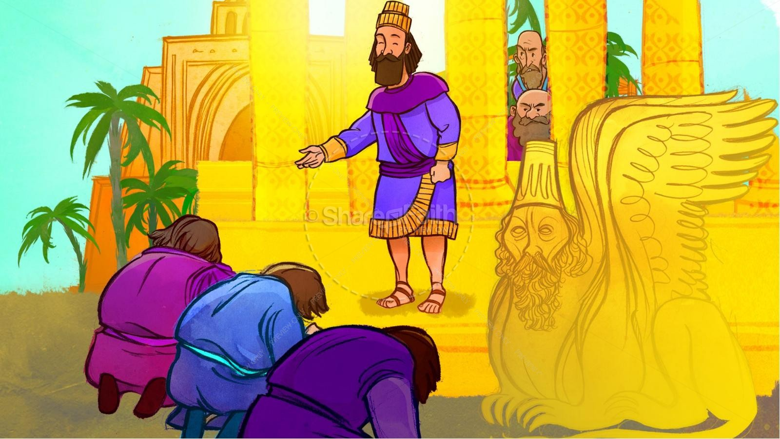 The Fiery Furnace with Shadrach, Meshach and Abednego Kids Bible Story | slide 4