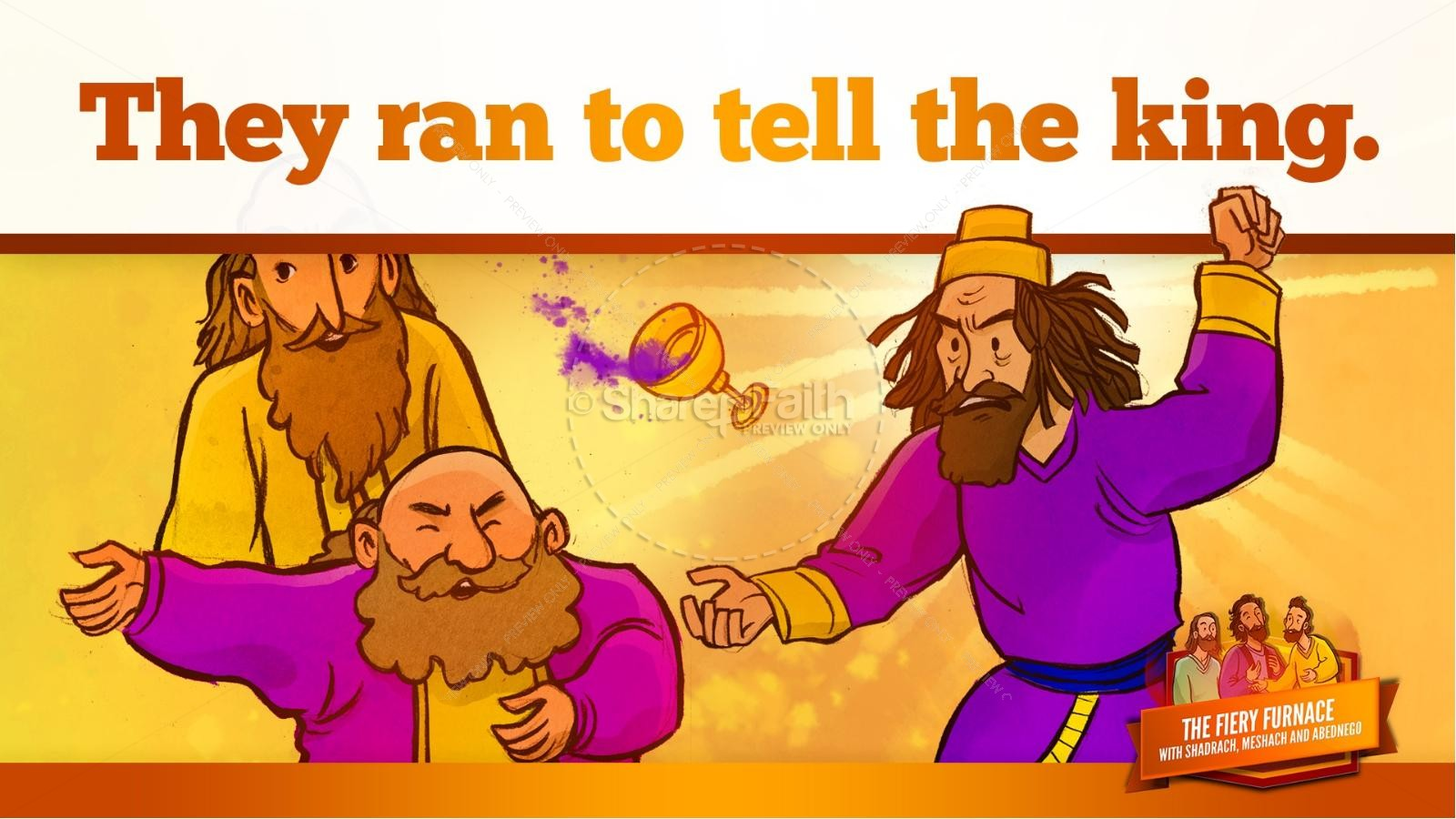 The Fiery Furnace with Shadrach, Meshach and Abednego Kids Bible Story | slide 41
